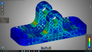 ANSYS Discovery Live structural analysis of lattice structure STL