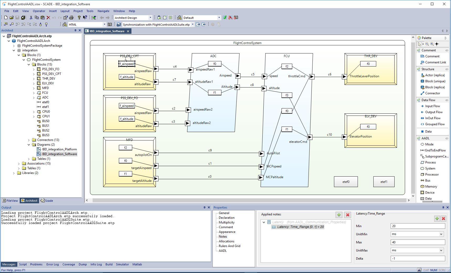 AADL FlightControl_tool